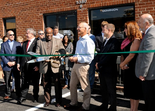 Pictured (L-R) Richard A. Williams CEO Dominion Electric Supply John Renner City of Alexandria Mayor William Euille Richard S. Sharlin Chairman ... & Grand Opening for Dominion Electric Supply Alexandria Location ...