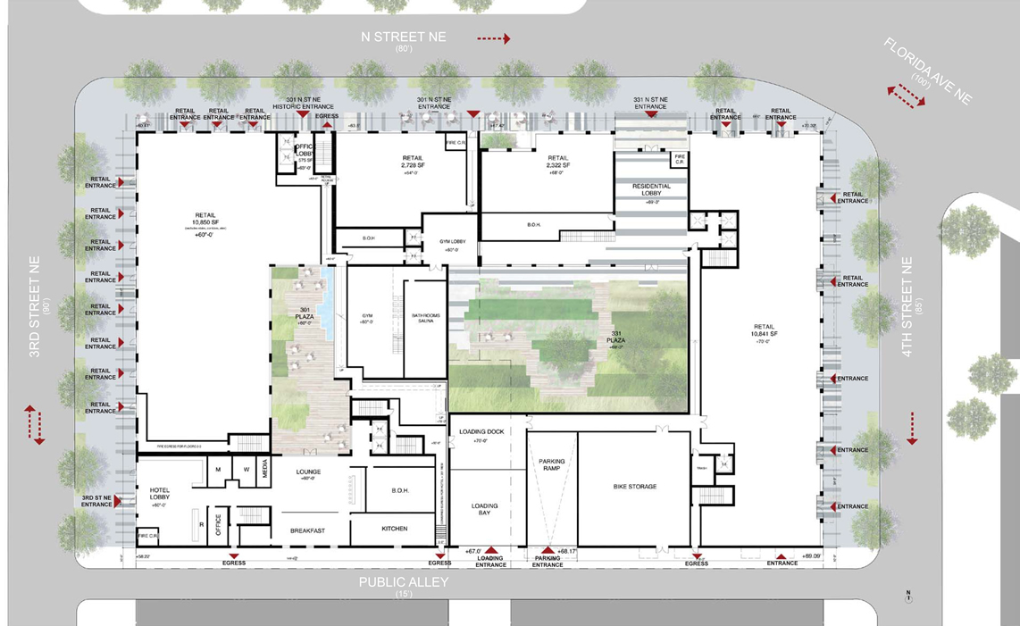 foulger pratt plans to develop residential hotel office ForRetail Apartment Plans